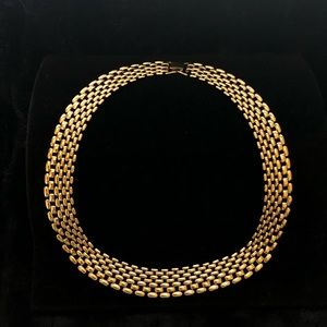 Napier Gold Tone Watchband Link Style Necklace